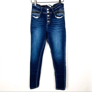 Kancan | Hi-Rise Skinny Button Fly Jeans